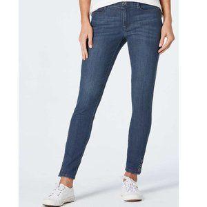 New J Jill 6P Slim Ankle Jeans Sea Glass Stretch
